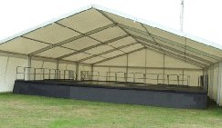 Covered Marquee Stage Hire