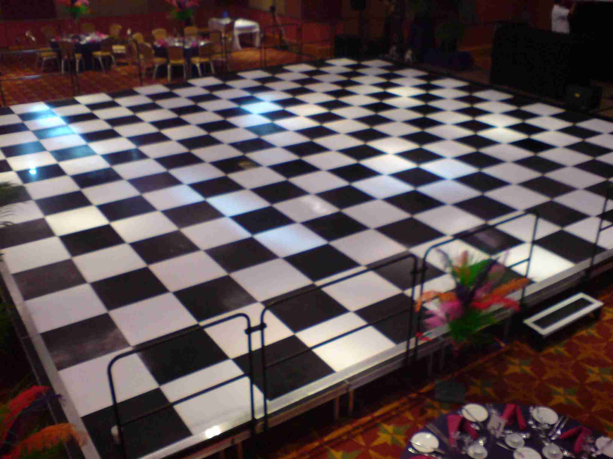 Black and White Raised Dance Floor